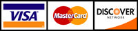 Visa Mastercard Discover accepted