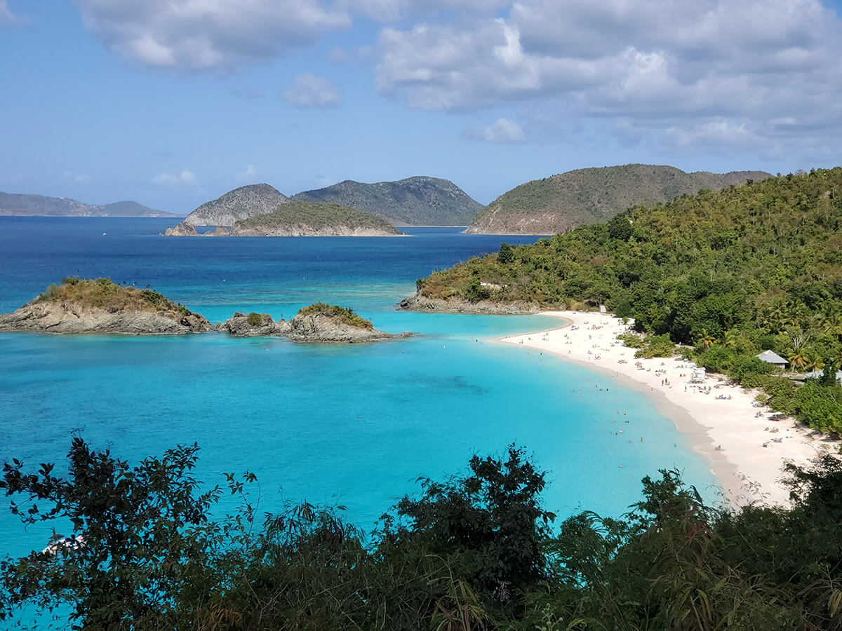 View of Trunk Bay on St. John